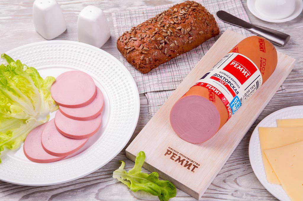 Колбаса Докторская ГОСТ в белковой оболочке